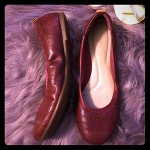 Timberland Earthkeepers🌎Oxblood leather flats 8.5